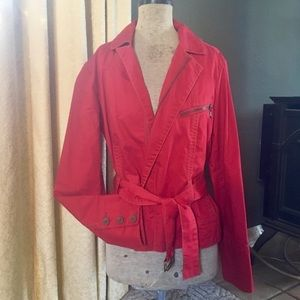 CAbi Red short trench coat